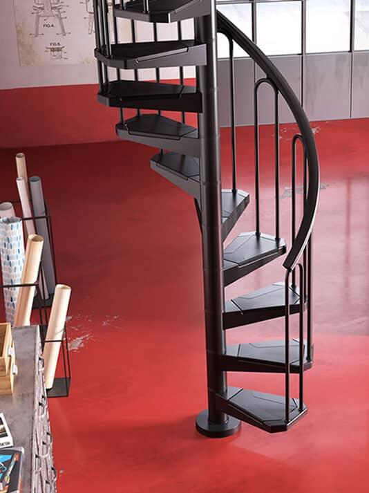 AF 26 Escalier en colimaçon conçu pour les espaces réduits