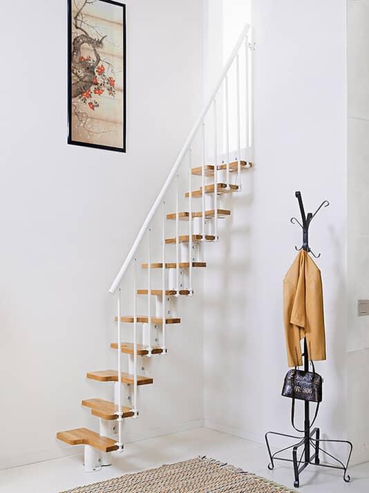 Oak 30 – Escalier gain de place en kit, en acier, pour espaces réduits