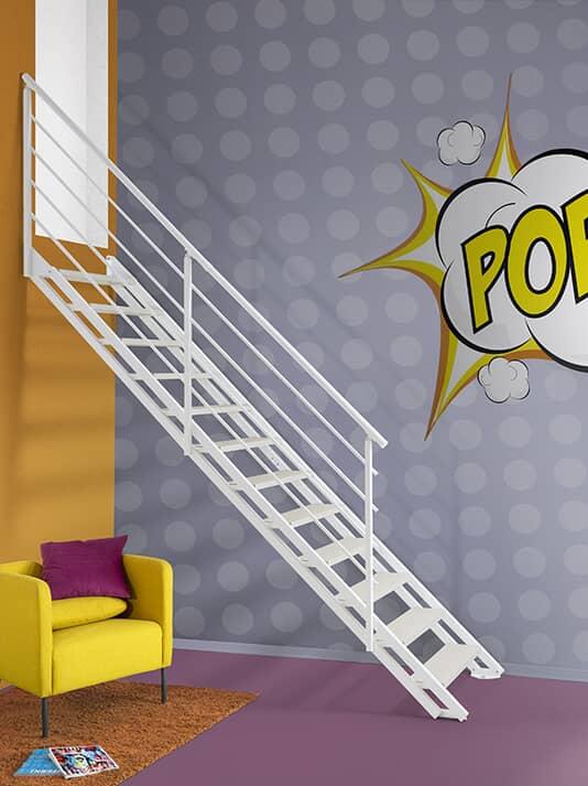 Scala a rampa per interni Fontanot Pop