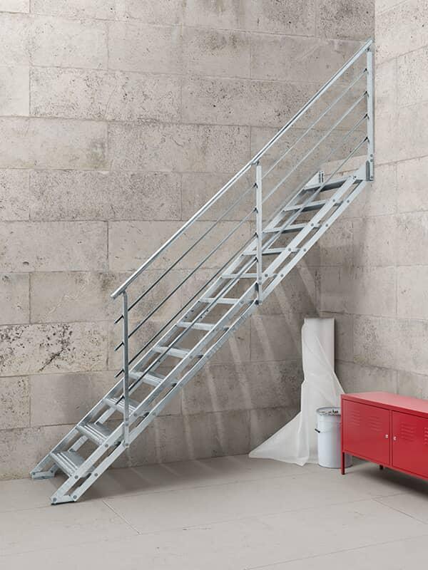 Fontanot Pop Zinc Escalier Droit En Acier Galvanise Pour L Exterieur
