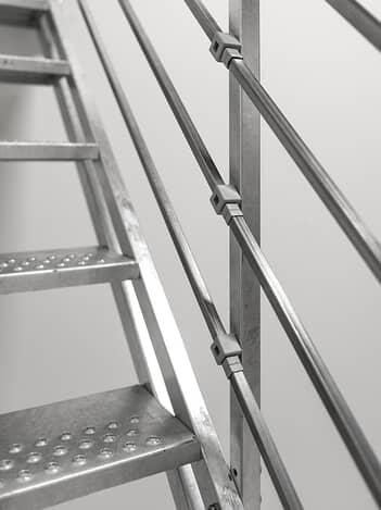 Scale In Ferro Zincato Per Esterni A Rampa Fontanot Shop
