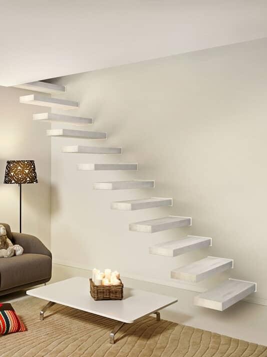 Kragarmtreppe Fontanot Wall, gerade Kragstufentreppe