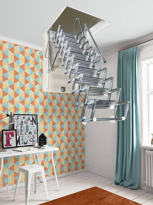 Fontanot Zooom escalier escamotable rétractable à pantographe manuel